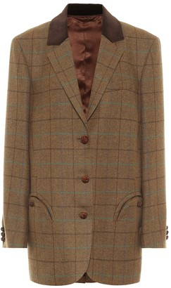 BLAZÉ MILANO Weekend checked wool blazer