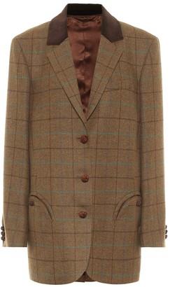 BLAZÉ MILANO Weekend checked wool blazer