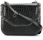 Stella McCartney crocodile-embossed Falabella Box shoulder bag - women - Polyurethane - One Size