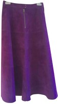 McQ Purple Suede Skirt for Women