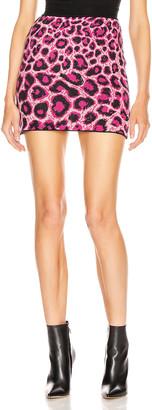 Alberta Ferretti Leopard Mini Skirt in Pink | FWRD
