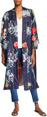 Johnny Was Halyna Reversible Silk Kimono