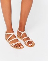 Asos FLUXE Leather Flat Sandals