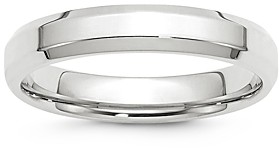 Bloomingdale's Men's 4mm Bevel Edge Comfort Fit Band in 14K White Gold - 100% Exclusive