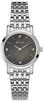 Bulova Ladies Stainless Steel Bracelet Watch with Diamonds