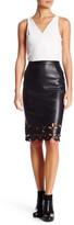 Catherine Malandrino Faux Leather Midi Skirt
