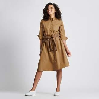 Uniqlo WOMEN Extra Fine Cotton A Line 3/4 Sleeve Dress