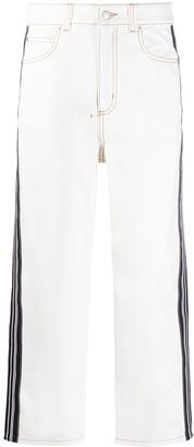 Alexander McQueen Wide-Leg Cropped Jeans