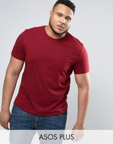 Asos PLUS T-Shirt With Crew Neck In Red