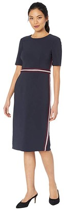 Maggy London Ribbon Trim Sheath Dress (Ck Twilight Navy) Women's Dress