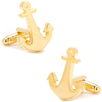 Cufflinks Inc. Gold Anchor Cuff Links