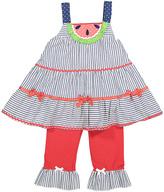 Nannette Blue & Red Stripe Knit Tank & Pants - Infant Toddler & Girls