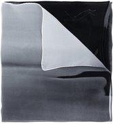 Yohji Yamamoto printed silk scarf