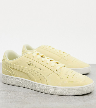 Puma Ralph Sampson suede sneakers in yellow Exclusive to ASOS