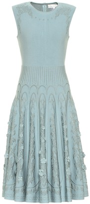 Oscar de la Renta Pleated midi dress
