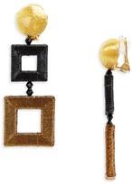 Oscar de la Renta Women's Wrapped Double Drop Earrings