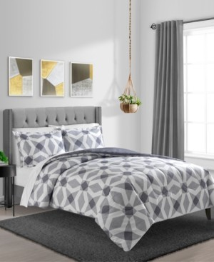 Sunham Geo 3-Pc. Reversible King Comforter Set Bedding