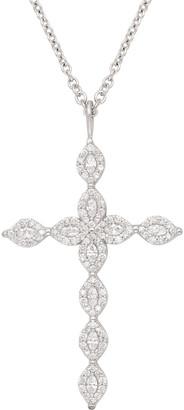 Jamie Wolf 18k Marquise Diamond Cross Necklace