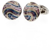 Jan Leslie Men's Mother-Of-Pearl Tile Cuff Links