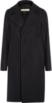 Golden Goose Deluxe Brand Pinstriped Wool-blend Coat - Midnight blue