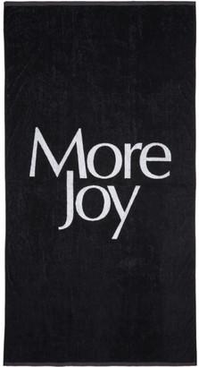 More Joy Black Logo Towel