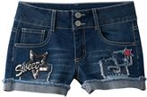 Vanilla Star Girls 7-16 Sequin Patch Jean Shorts