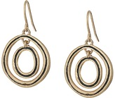 The Sak Ribbed Orbit Drop Earrings