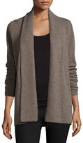 Neiman Marcus Open-Front Cashmere Cardigan w/ Pinched Back