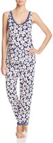 Oscar de la Renta Floral Print Pajama Set