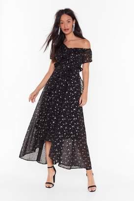 Nasty Gal Womens She's a Movie Star One Shoulder Maxi Dress - black - 6