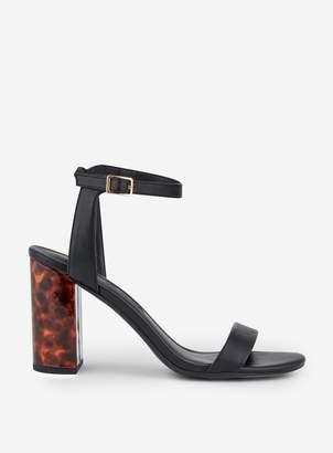 Dorothy Perkins Womens Black 'Shimmer' Block Heel Sandals, Black