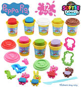 Peppa Pig Softee Dough Playset - 8 Can Pack - 12 piece set