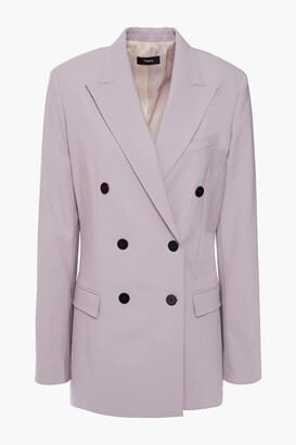 Theory Double-breasted Wool-blend Cady Blazer