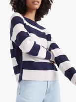 Club Monaco Racked Stitch Stripe Cashmere Jumper
