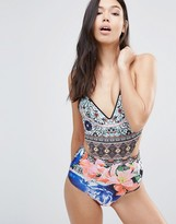 Clover Canyon Printed Swimsuit