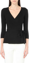 Diane von Furstenberg Ballerina Two silk and cashmere-blend wrap jumper