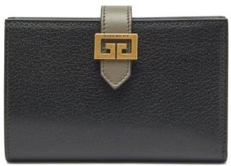 Givenchy Gv3 Leather Bi-fold Wallet - Black Grey