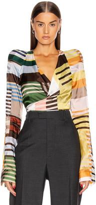Rick Owens Long Sleeve Wrap Jacket in Uxmal Print | FWRD
