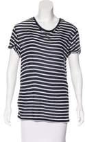 IRO Striped Short Sleeve Top