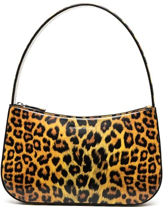 Kwaidan Editions Patent Leather Leopard Print Tote Bag