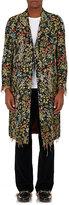 Gucci Men's Floral Cotton-Blend Appliquéd Topcoat