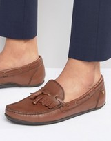 Frank Wright Nevis Loafers In Brown Leather