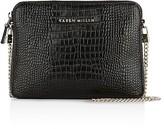 Karen Millen Croc-Embossed Mini Bag