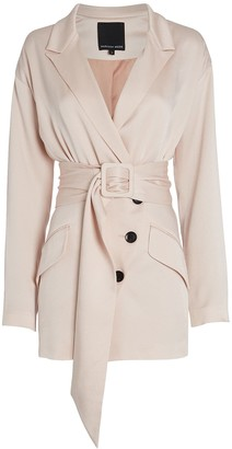 Marissa Webb Cyrus Satin Suit Dress