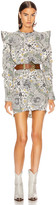 Etoile Isabel Marant Catarina Dress in Ecru & Almond | FWRD