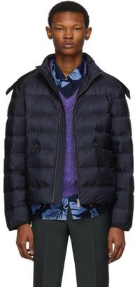 Prada Navy Down Nylon Jacket