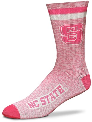 For Bare Feet Women's North Carolina State Wolfpack Pretty in Pink Crew Socks