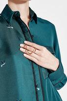 Maison Margiela Double Ring with Crystal Embellishment