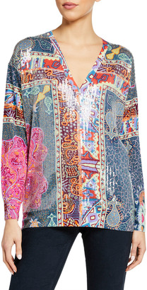 Etro Mandala Quadrant Sequined Tunic
