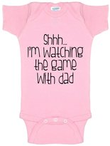 Decal Serpent Funny Baby Bodysuit Infant Shhh... I'm Watching The Game With Dad